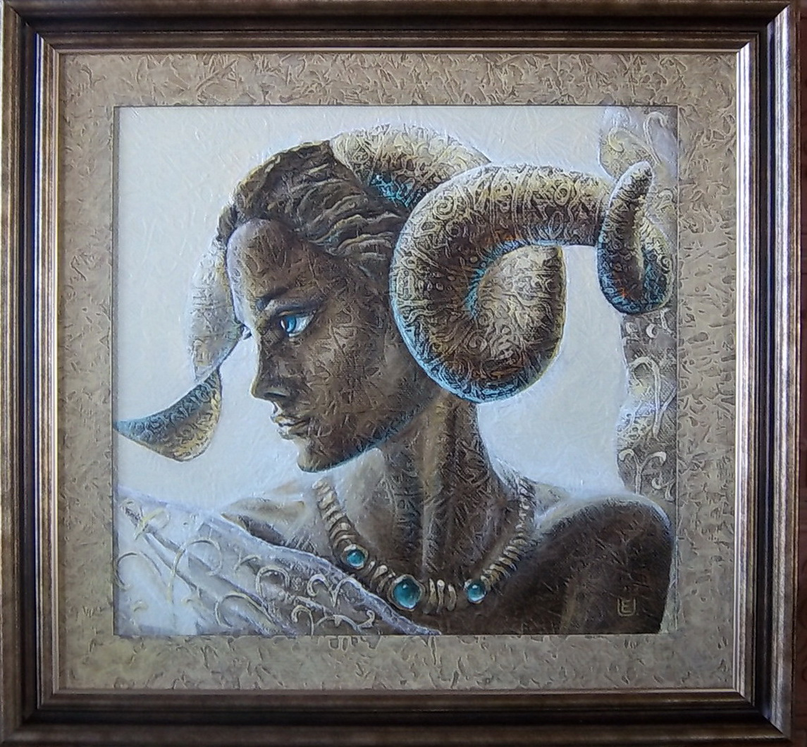 ''Zodiakas''-Avinasi 2013 m. (50x50 cm), oil on canvas