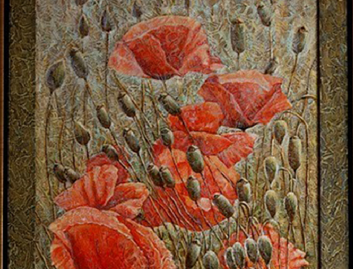 POPPIES IN MEADOW 2011 (110 x 83 cm)