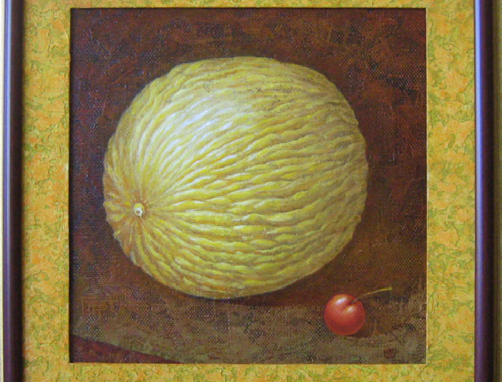 MELON AND CHERRY 2009 (40 x 40 cm)