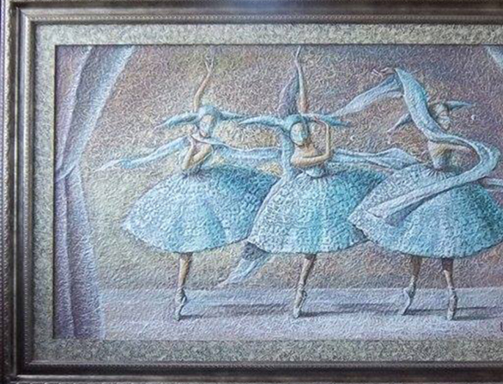 Three dancers 105 x 60 cm