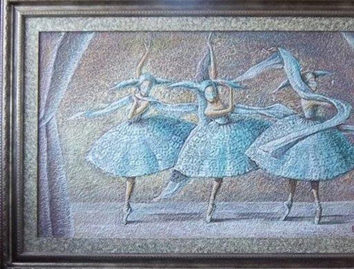 Three dancers 105 x 60 cm