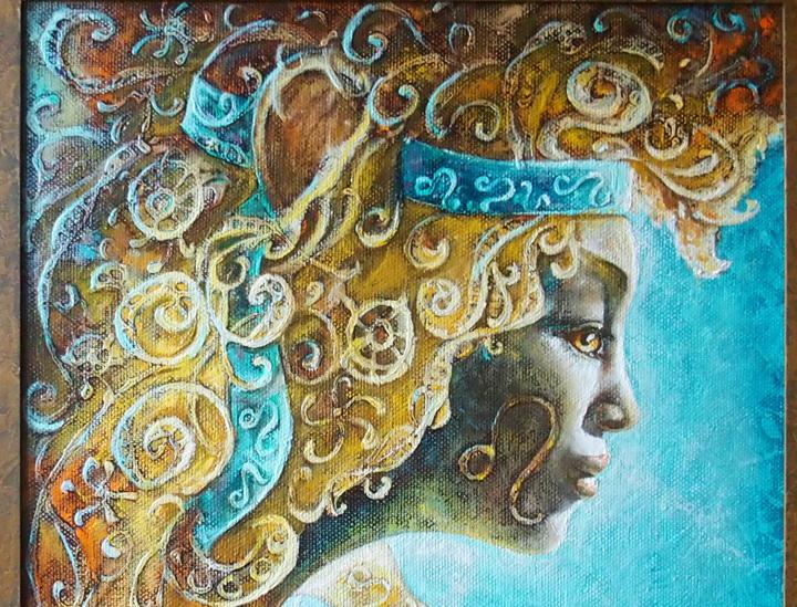 Zodiac lion 50 x 50 cm