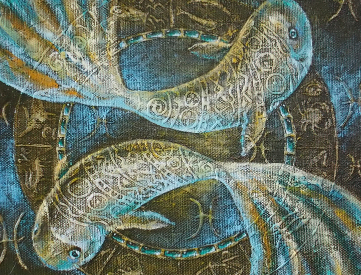 "Zodiac ""Fish"" 45 x 45 cm"