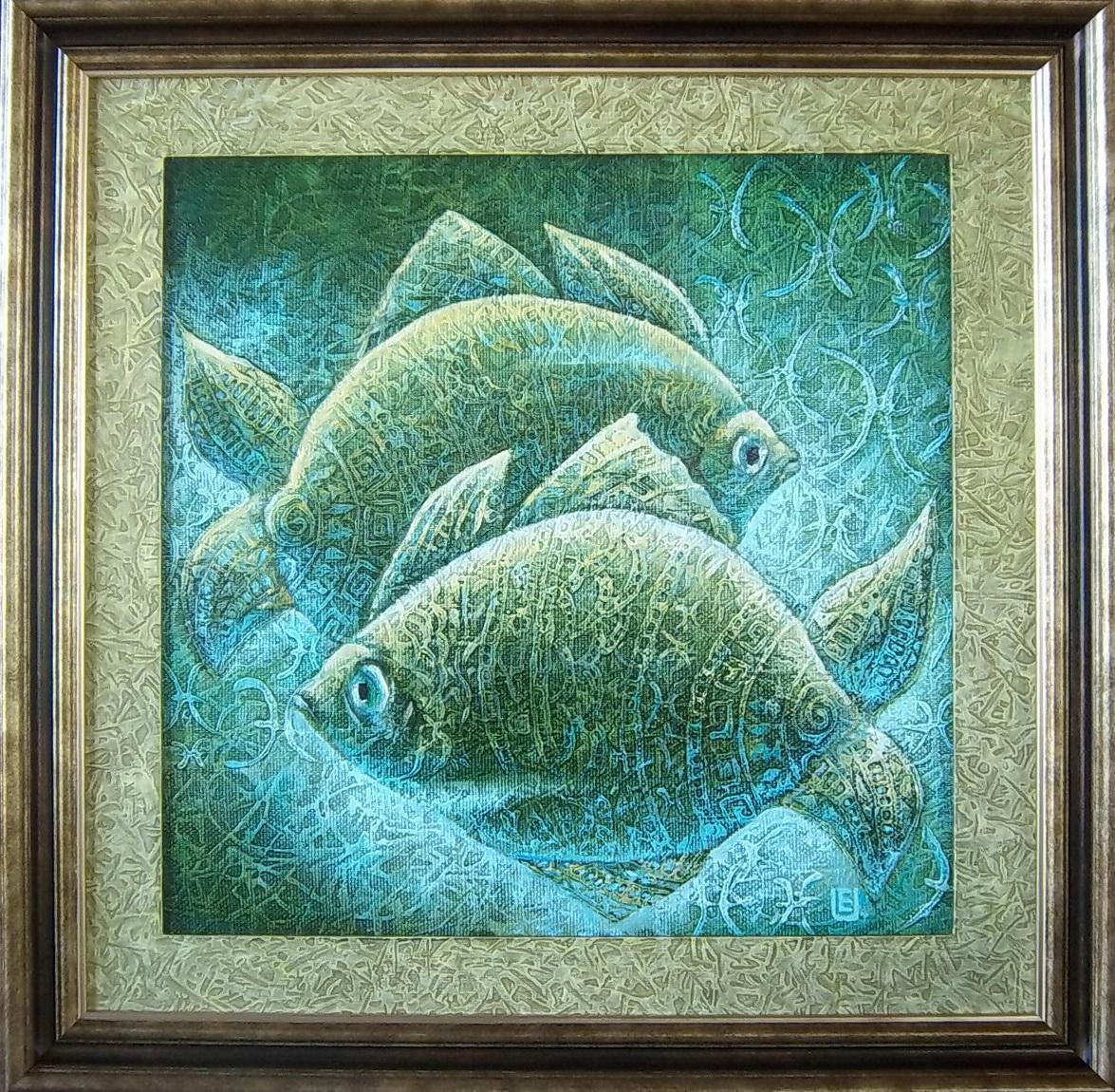 ''Zodiakas''-Žuvys, 2013 m. (50x50 cm), oil on canvas