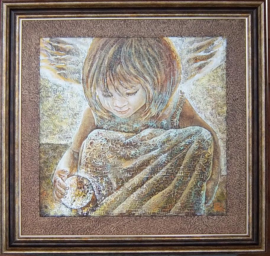 angelas 2, 2012m.(45 ant 45 cm) aliejus, drobė, spec faktūra