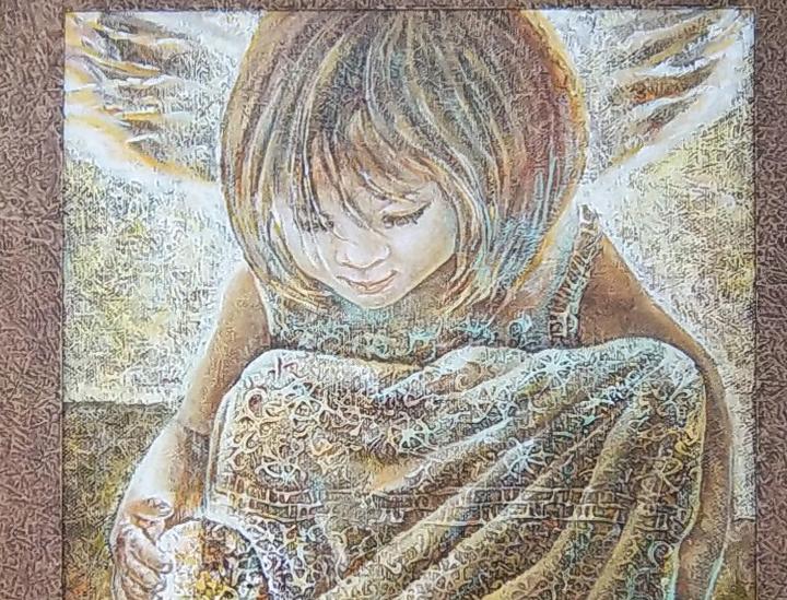 ANGELAS 2 2012 (45 x 45 cm)