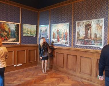 Dailininkų Ojaro Mašidlausko ir Romo Žmuidzinavičiaus paveikslų paroda trakų vokės dvare