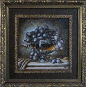 Eurikapaintings-natiurmortas-melynos-vynuogės-1