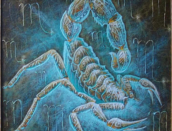 Zodiakas skorpionas 50 x 50 cm