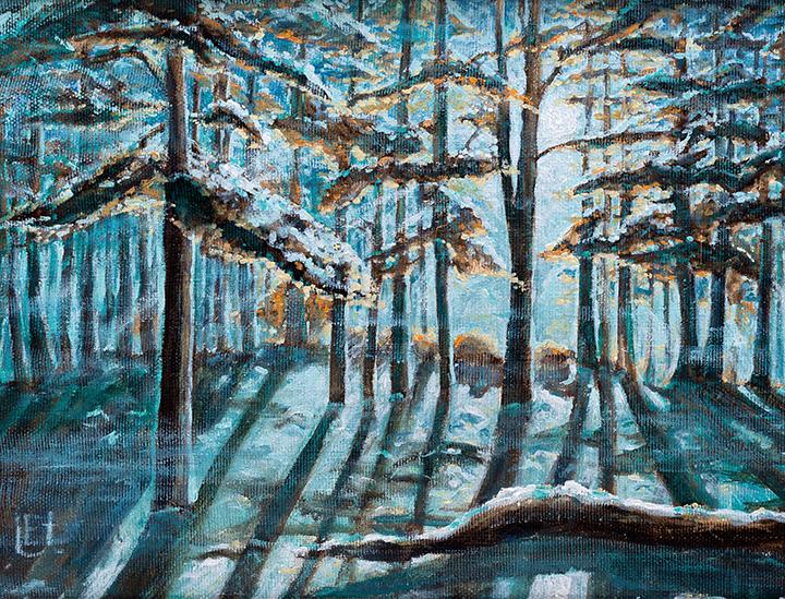 Miškas Žiemą 40 x 70