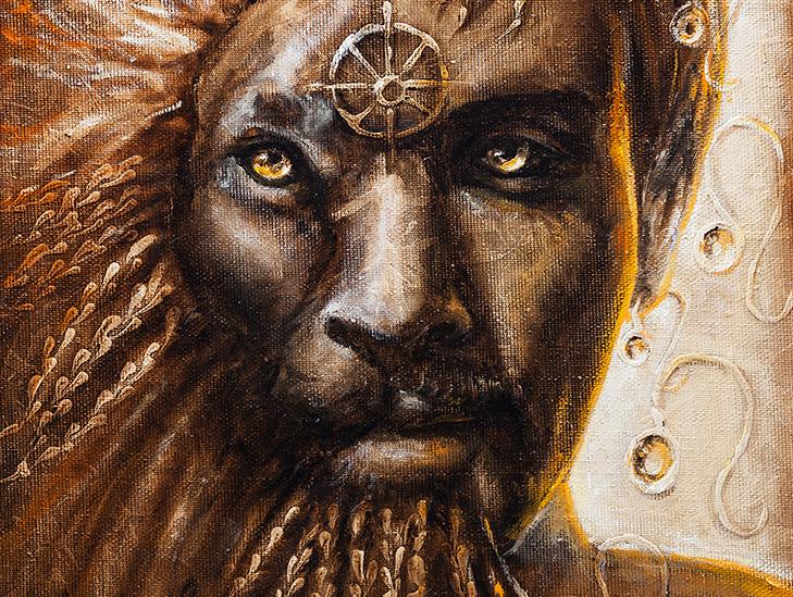 Zodiakas liūtas III 50 x 50