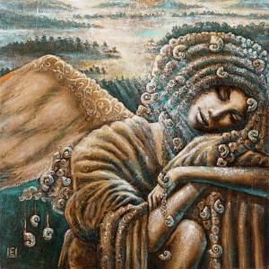 Ramybės angelas [90 x 90, kaina 1550]