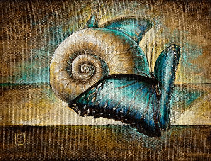 Sraigė ir drugelis 70 cm  x 44 cm